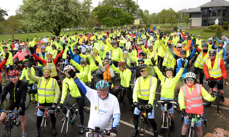 30/04/2017 NEWS. Willow Wheelers, Blackrock starting out on their 28th annual 160km cycle through Dublin, Meath and Kildare , the club with over 300 cyclists aimed to raise funds for water, health and education for projects in Africa, South America and Southeast Asia Photograph: Cyril Byrne / THE IRISH TIMES